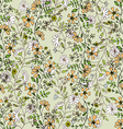 seamlessly pattern with flowers vector image