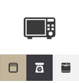 set of 4 editable kitchen icons includes symbols vector image