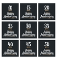 Set sign for happy anniversary vector image