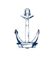 ship armature anchor boat vector image vector image