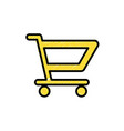 shopping cart icon symbol to buy vector image vector image