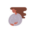 silhouette of african-american pregnant woman vector image vector image