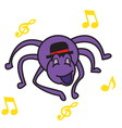 Spider and Music vector image