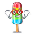 super hero character beverage colorful ice cream vector image vector image