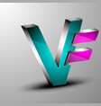 the 3d letter vector image vector image
