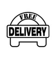 thin line free delivery icon vector image vector image