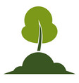tree isolated icon ecology and environment vector image vector image