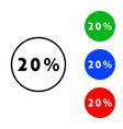 twenty percent icon vector image vector image
