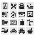 vacation travel icon set vector image vector image