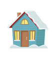 winter country house vector image vector image