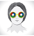 women wear colorful shutter goggle vector image vector image