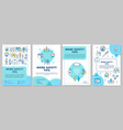 work safety tips brochure template vector image