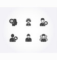 writer support and shipping support icons vector image