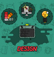 design flat concept icons vector image
