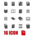 grey book icon set vector image
