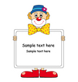 clown text vector image