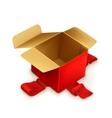 Empty gift box vector image