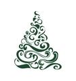Graphical Christmas tree vector image