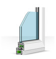 3d plastic window profile on vector image