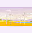 alternative energy resource and rotation windmills vector image vector image