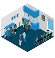 Bank Office Isometric Concept vector image