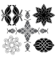 black tracery for design vector image vector image