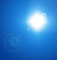 Blue Sky with Sun vector image vector image