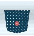blue textured pocket vector image vector image