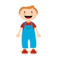 boy cartoon happy isolated design vector image