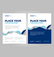 Brochure layout template design