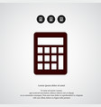 calculator icon simple mathematics element vector image vector image