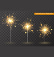 christmas bengal lights set different stages vector image vector image