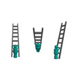 climbing ladder in 3d vector image vector image