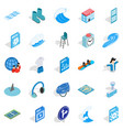 clothes for rest icons set isometric style vector image vector image