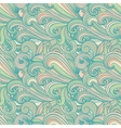 Colorful hand-drawn pattern curls background vector image vector image