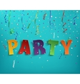 Colorful handmade typeface party vector image vector image