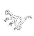 coloring book therizinosaurus dinosaur vector image