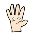 comic cartoon hand with eyes vector image vector image