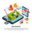 convenient home banking concept vector image vector image