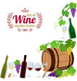 corner frame of wine icons vector image vector image