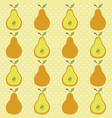 cute pear pattern vector image vector image