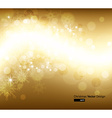Elegant Gold Christmas Background vector image