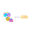 falling gift boxes 3d gifts for special offer vector image
