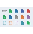 file formats document icons vector image vector image