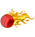 flying fire volley ball for vector image