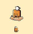 fun playful mascot cartoon waffle logo icon vector image vector image