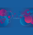 geometry round shapes element for header poster vector image