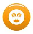 girl smile icon orange vector image