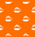 glass teapot pattern seamless vector image vector image