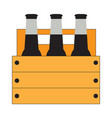 group of beer bottles vector image vector image
